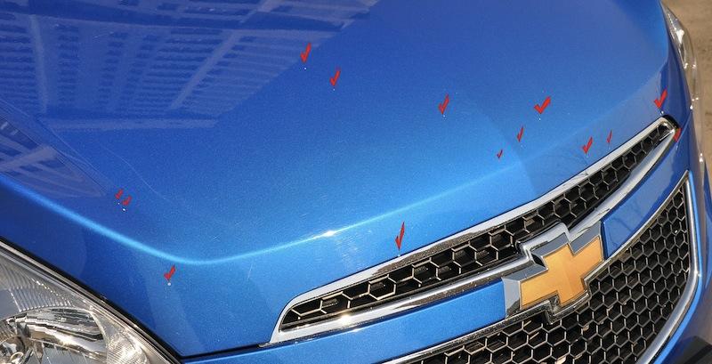 Как убрать рыжики на кузове