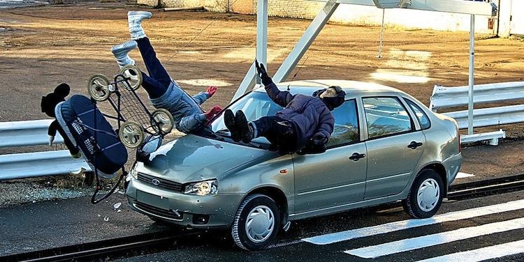 Наезд автомобиля на пешехода