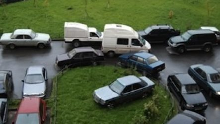 Парковка на газоне: штраф