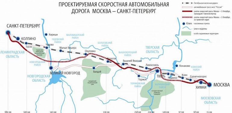 Платная трасса Москва-Санкт-Петербург4