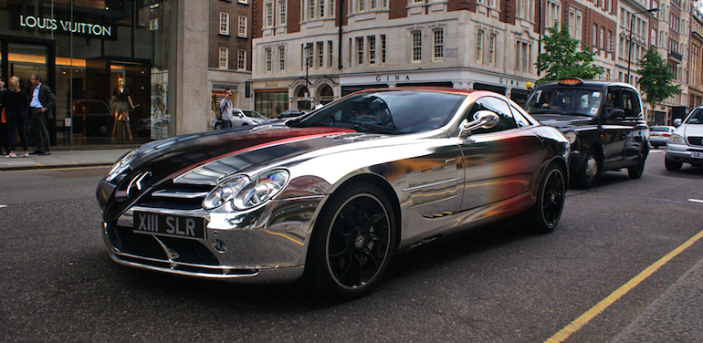 Mercedes-Benz SLR McLaren V10 Quad-Turbo Brabus White Gold