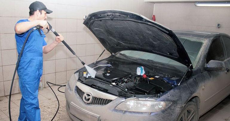 Мытье двигателя на мойке2