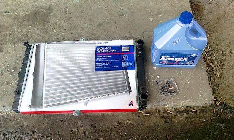 Течь радиатора охлаждения автомобиля - устранение2