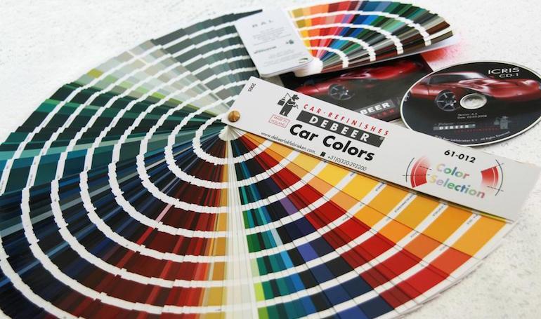 Таблица цветов автомобильных красок