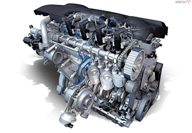 Двигатель автомобиля443