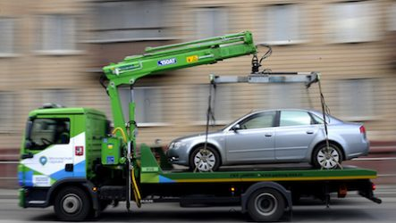 Повреждение авто при эвакуации
