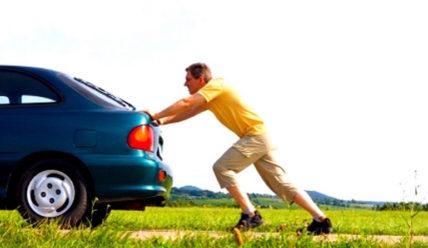 Запуск с толкача автомобиля на автомате