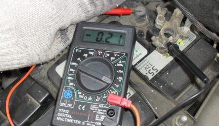Проверка утечки тока на авто мультиметром